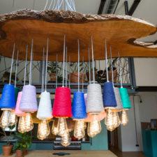Ruwe Bolster - Stitch it _ thread lamp