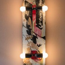 Ruwe Bolster - skateboard lamp