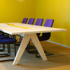 Ruwe Bolster furniture plywood table design for the office